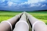 pipelines converging on a vanishing point