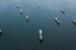 Crude oil tankers in port. (Shutterstock)