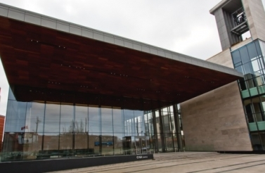 CIGI Campus building in Waterloo, Canada. (Photographer: Joel Campbell)