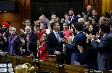 Prime Minister Trudeau attends the budget speech delivered by Minister of Finance Bill Morneau in the House of Commons on March 19, 2019. (PMO Photo/Adam Scotti)