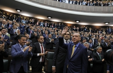 Turkey's President Erdogan gained new power following a 2017 referendum to place the president as both the head of state and of a political party. (AP Photo/Burhan Ozbilici)