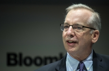 Former president of the Federal Reserve Bank of New York Bill Dudley speaks during the Bank of England Markets Forum at Bloomberg in London on May 24, 2018. (Victoria Jones/Pool Photo via AP)