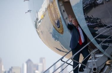 President Donald Trump waves as he boards Air Force One on Thursday, May 31, 2018. (AP Photo/Evan Vucci)