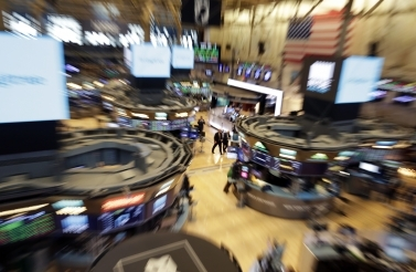 The floor of the New York Stock Exchange on August 22, 2018. (AP Photo/Richard Drew)