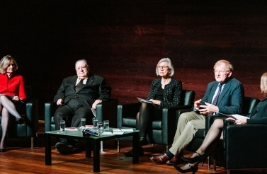 Victoria Donaldson, James [Sákéj] Youngblood Henderson, Beverley Marian McLachlin, Thomas Cottier and Oonagh Fitzgerald