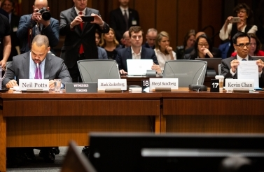 Mark Zuckerberg's seat was empty during the second meeting of the International Grand Committee in Ottawa. (CIGI Photo/Stephen D'Alimonte)