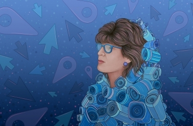 Illustration of Shoshana Zuboff by Gaby D'Alessandro