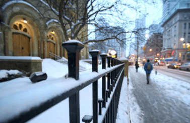 Snowy streetscape