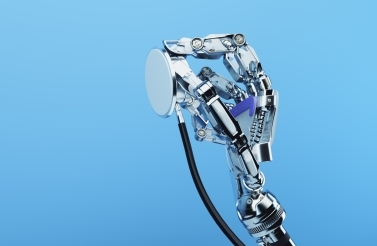 robot hand with stethoscope