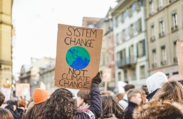 A demonstrator at the Peoples' Climate March. (Shutterstock)