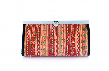 Purse with traditional print