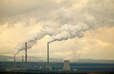 Global warming emissions, co2 emitted by an energy plant