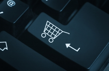 Shopping cart icon on a keyboard